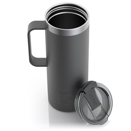 20oz Travel Mug, Charcoal, Matte, Case of 24 Image