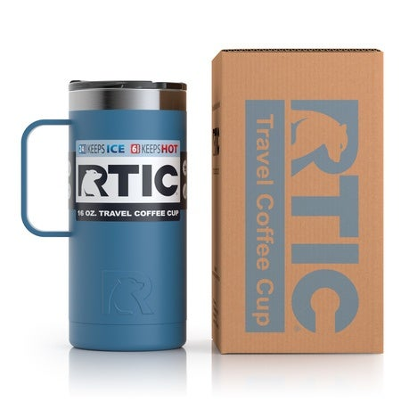 16oz Travel Mug, Slate Blue, Matte Image