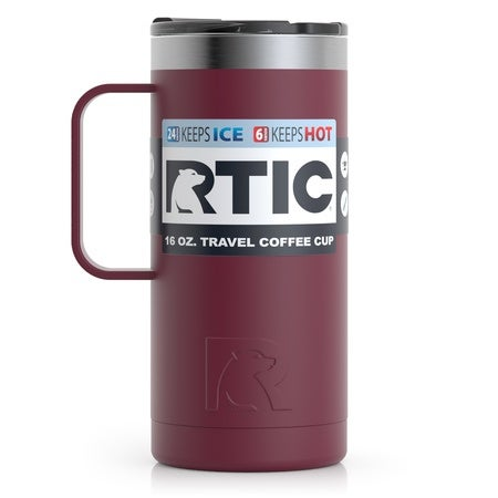16oz Travel Mug, Maroon, Matte Image