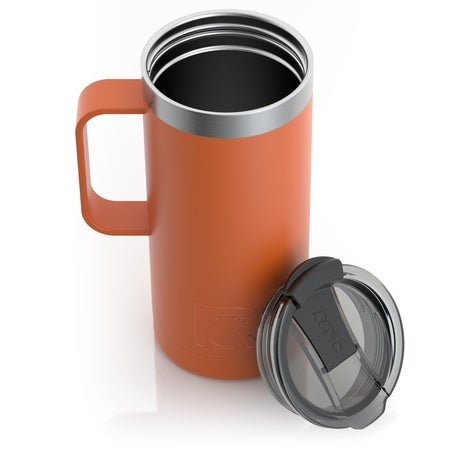16oz Travel Mug, Burnt Orange, Matte Image