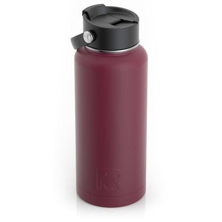 32oz Bottle, Maroon, Matte Image