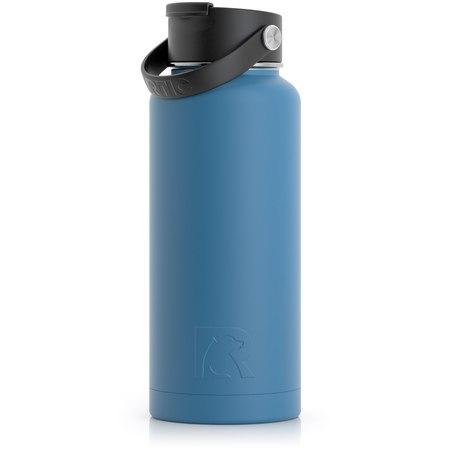 32oz Bottle, Slate Blue, Matte Image