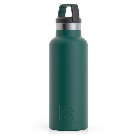 16oz Water Bottle, Forest Green, Matte Image