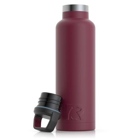 20oz Water Bottle, Maroon, Matte Image