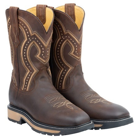 The Smith - Soft Toe, Crazy Brown, 12EE Mens Boot, Rubber RED Track Image