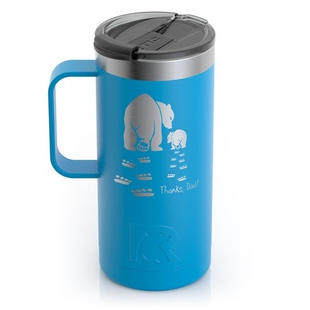 Pawprints Father's Day - Polar Cap - 16oz Travel Mug