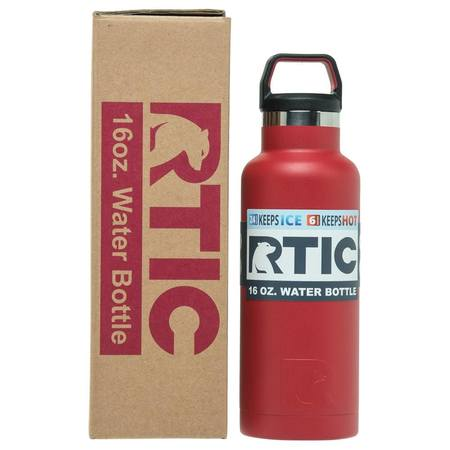 16oz Water Bottle, Cardinal, Glossy, Case of 24 Image