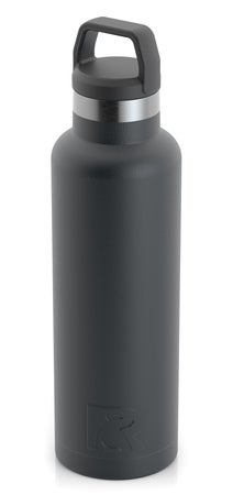 20oz Water Bottle, Charcoal, Matte Image
