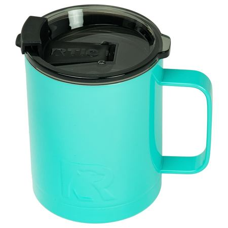 12oz Coffee Cup, Teal, Glossy Image