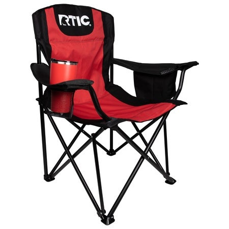 Folding Chair, Red & Black Image