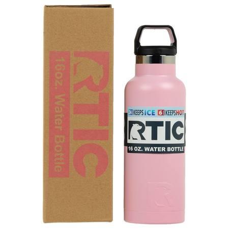 16oz Water Bottle, Flamingo, Matte Image