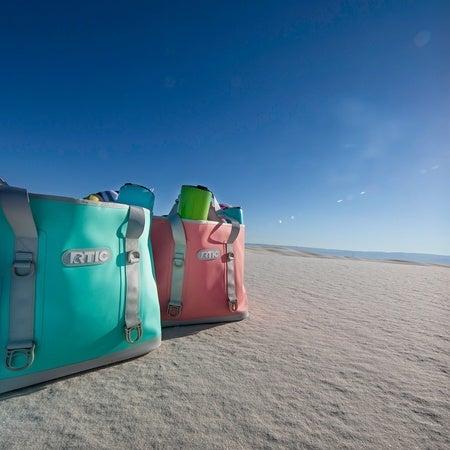 Large Tote Bag, Seafoam Green Image