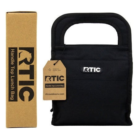 Handle Top Lunch Bag, Black Image