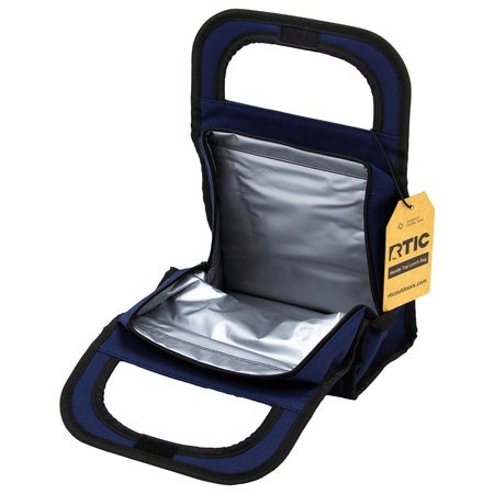 Insulated Gel Handle Lunch Bag, Navy Image