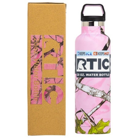 20oz Water Bottle, Pink Camo, Matte, Case of 24 Image