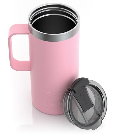 16oz Travel Mug, Flamingo, Matte Image