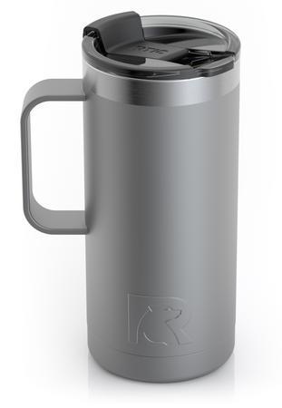 16oz Travel Mug, Graphite, Matte Image