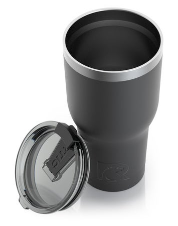 30oz Tumbler, Black, Matte, Case of 30 Image