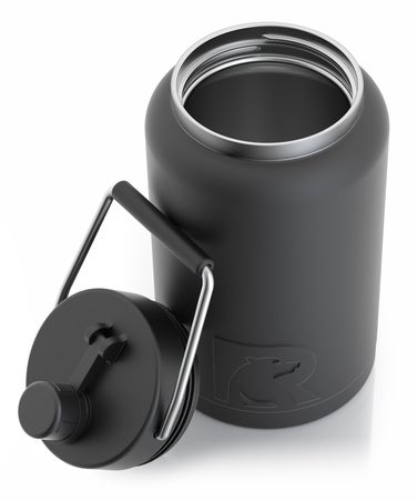 Half Gallon Jug, Black, Matte Image