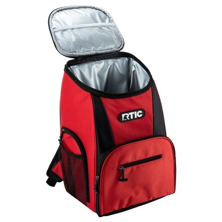 15 Can Backpack, Red & Black Image