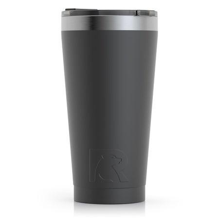 Brand New Starbucks 24 fl oz Metal Tumbler Matte Black Cup w// screw Lid /& Straw