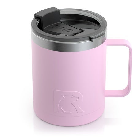 12oz Travel Mug, Flamingo, Matte Image