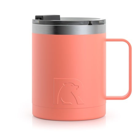 12oz Travel Mug, Coral, Matte Image