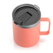 12oz Travel Mug, Coral, Matte Thumnail