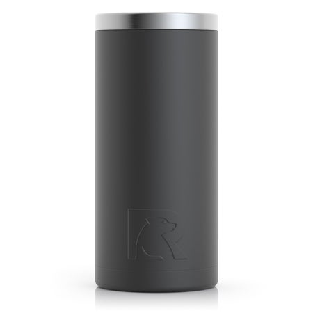 12oz Skinny Can, Charcoal, Matte Image