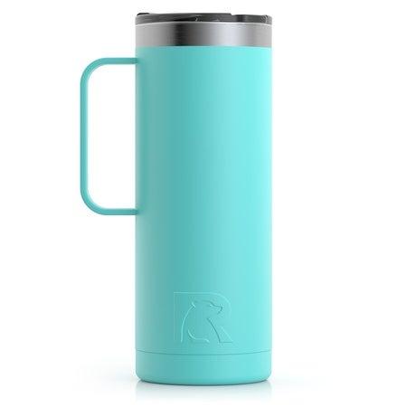 20oz Travel Mug, Teal, Matte Image