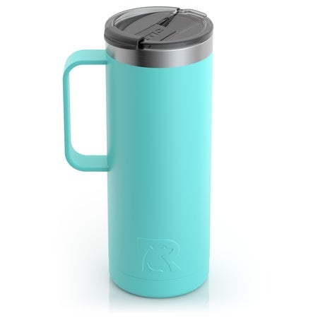20oz Travel Mug, Teal, Matte Image