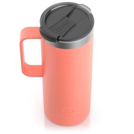 20oz Travel Mug, Coral, Matte Image