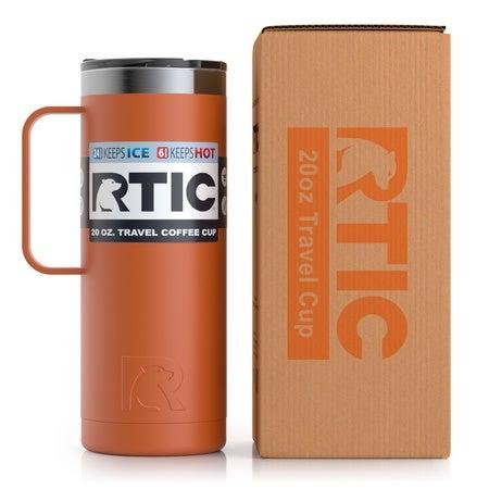 20oz Travel Mug, Burnt Orange, Matte Image