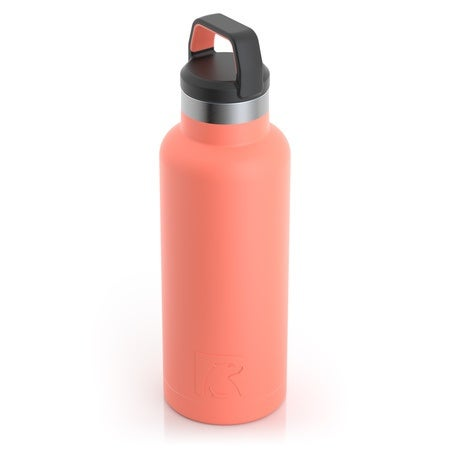 16oz Water Bottle, Coral, Matte Image