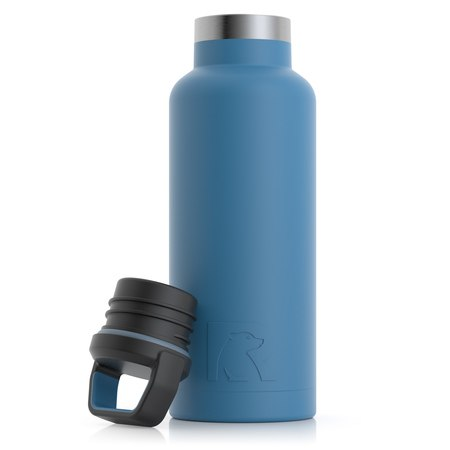 16oz Water Bottle, Slate Blue, Matte Image