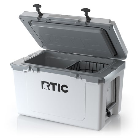 RTIC 52 Quart Ultra-Light Hard Cooler, White & Grey Image