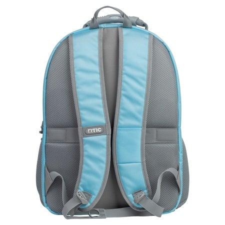 Summit Laptop Backpack, Sky Blue & Grey Image